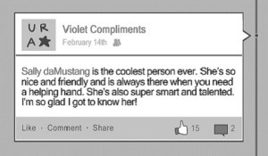 Anonymous Compliments Facebook Page